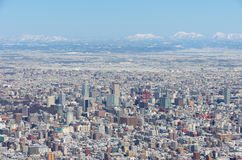 Aerial view of Sapporo Royalty Free Stock Image
