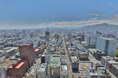 The Aerial view in  SAPPORO, HOKKAIDO jp Stock Photography