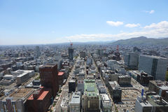 The Aerial view in  SAPPORO, HOKKAIDO jp Stock Images