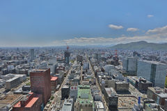 The Aerial view in  SAPPORO, HOKKAIDO jp Stock Photo