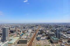 The Aerial view in  SAPPORO, HOKKAIDO jp Royalty Free Stock Photo