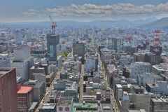 The Aerial view in  SAPPORO, HOKKAIDO jp Royalty Free Stock Image