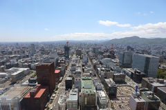 The Aerial view in  SAPPORO, HOKKAIDO jp Royalty Free Stock Photography