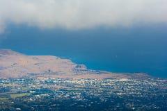 Savannah of Saint Paul at Reunion Island. Aerial view of Savannah of Saint Paul at Reunion Island Royalty Free Stock Photography
