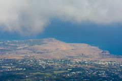 Savannah of Saint Paul at Reunion Island. Aerial view of Savannah of Saint Paul at Reunion Island Stock Photography