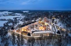 Aerial view on Savvino-Storozhevsky Monastery in Zvenigorod Stock Photo