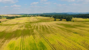 Aerial view of Saxony Countryside in summer, Germany Stock Photo