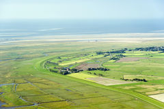 Aerial view from the Schleswig-Holstein Wadden Sea National Park Royalty Free Stock Image