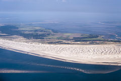 Aerial view from the Schleswig-Holstein Wadden Sea National Park Royalty Free Stock Photos