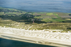 Aerial view from the Schleswig-Holstein Wadden Sea National Park Royalty Free Stock Photo