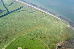 Aerial view from the Schleswig-Holstein Wadden Sea National Park Stock Images