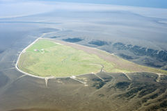 Aerial view from the Schleswig-Holstein Wadden Sea National Park Stock Photography