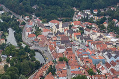 Aerial view of Schwandorf Stock Images