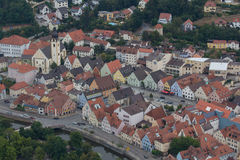 Aerial view of Schwandorf Stock Photography