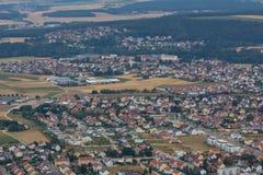 Aerial view of Schwandorf Stock Image