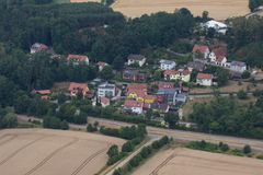 Aerial view of Schwandorf Royalty Free Stock Photography