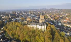 Aerial view on the Schwanenburg castle stock images