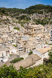 Aerial view, Scicli, Italy Stock Images