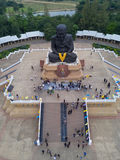 Aerial view of sculpture of revered Buddhist monk Luang Pu Thuat Stock Photo
