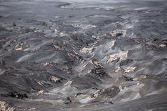 Aerial view of sea of sand inside Bromo Tengger Caldera Royalty Free Stock Image