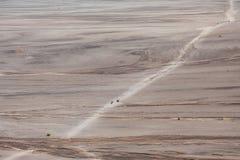 Aerial view of sea of sand inside Bromo Tengger Caldera Royalty Free Stock Photo