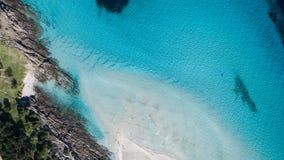 Aerial view of the sea, Sardinia, Italy. Blu Stock Photos