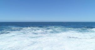 Aerial view of sea on a sunny day 4k. Aerial view of beautiful sea on a sunny day 4k stock video
