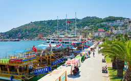 Aerial view of seafront in Alanya, Turkey Royalty Free Stock Image