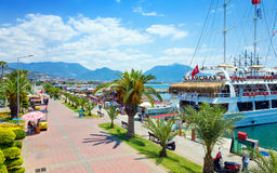 Aerial view of seafront in Alanya, Turkey Royalty Free Stock Photo