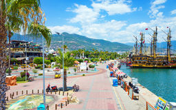 Aerial view of seafront in Alanya, Turkey Stock Photo