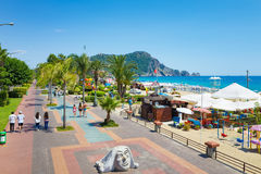 Aerial view of seafront in resort city Alanya, Turkey Stock Images