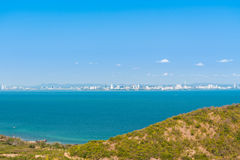 Aerial view seascape and Pattaya city, Thailand Stock Photo