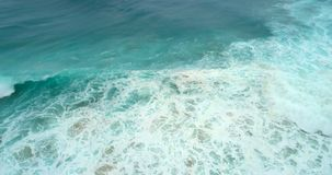 Aerial view of seascape on a sunny day 4k. Aerial view of beautiful seascape on a sunny day 4k stock footage