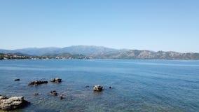 Sea side in Corsica, France stock image
