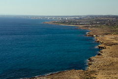 Aerial View of seaside part of Cyprus island Royalty Free Stock Photo