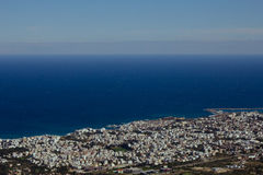 Aerial View of seaside part of Cyprus island Royalty Free Stock Image