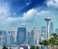 Aerial view of Seattle skyline, Washington - USA Royalty Free Stock Photo