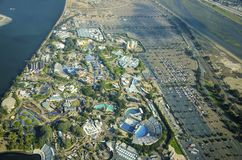 Aerial view of Seaworld, San Diego stock photos