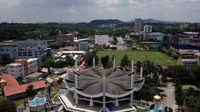 Aerial view See in seremban Malaysia stock video footage