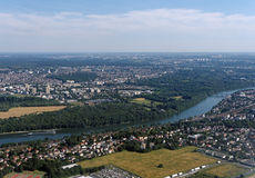Aerial view of Seine river Stock Photo