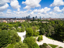 Aerial view of Sempione park in Milan, Italy Royalty Free Stock Photo
