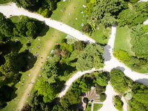 Aerial view of Sempione park in Milan, Italy. Aerial view of Sempione park in Milan - Italy Stock Images