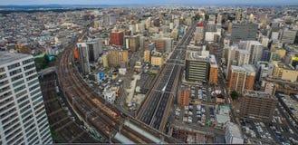 Aerial view of Sendai, Japan royalty free stock image