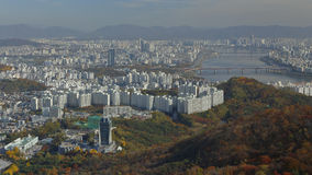 Aerial view of Seoul South Korea Skyline Asia - view from Seoul Tower hilltop - NOVEMBER 2013 Stock Photography