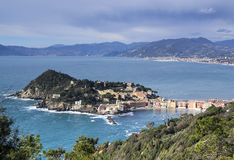 Aerial view of Sestri Levante Stock Photos