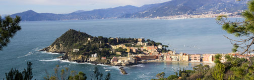 Aerial view of Sestri Levante Royalty Free Stock Images