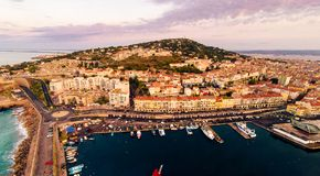 Aerial View Of Sete, France stock photos