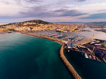 Aerial View Of Sete, France Royalty Free Stock Photos