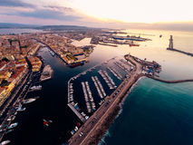 Aerial View Of Sete, France Stock Images