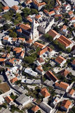 Aerial view of settlement Selca Stock Photo